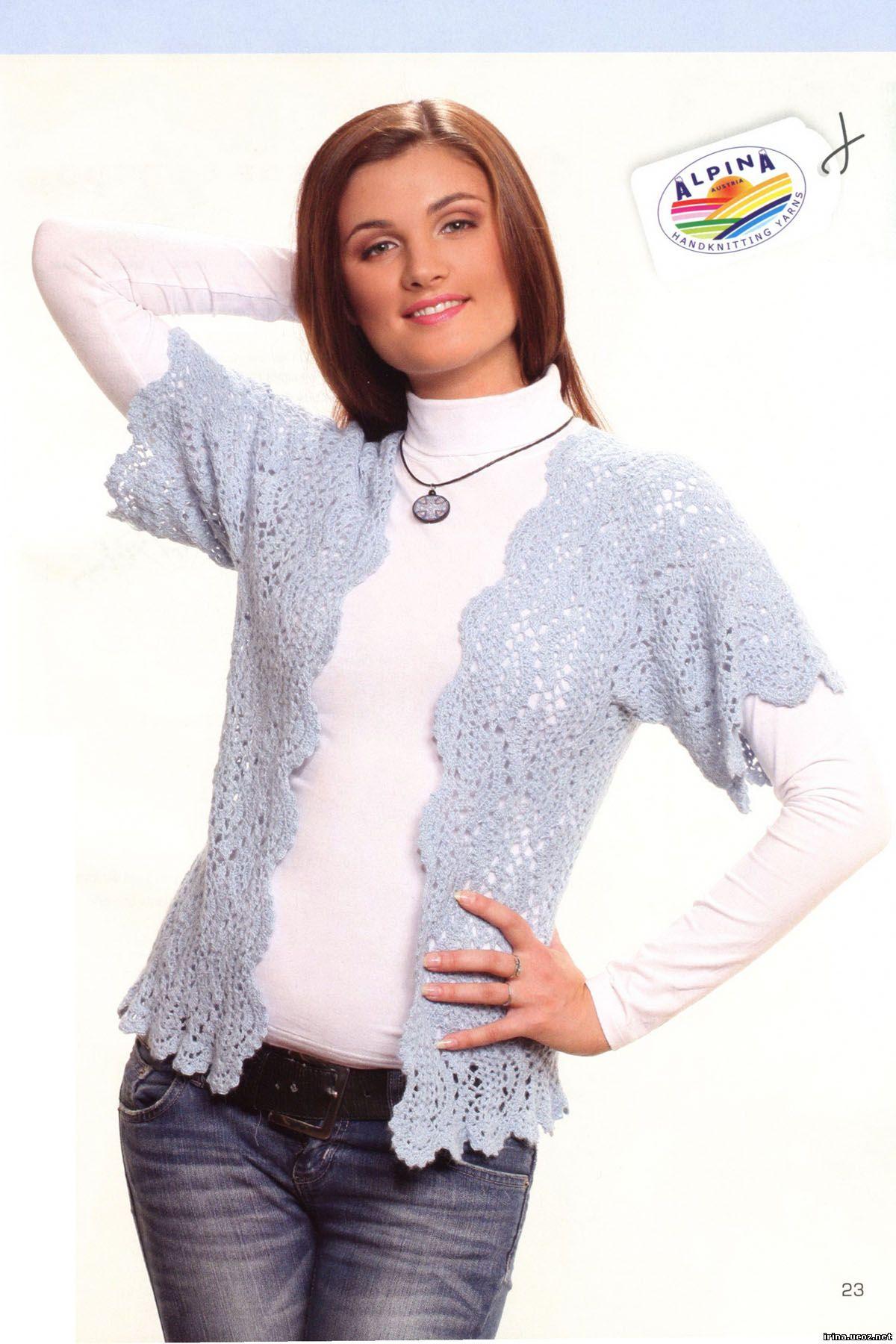 Вяжем модно свитер