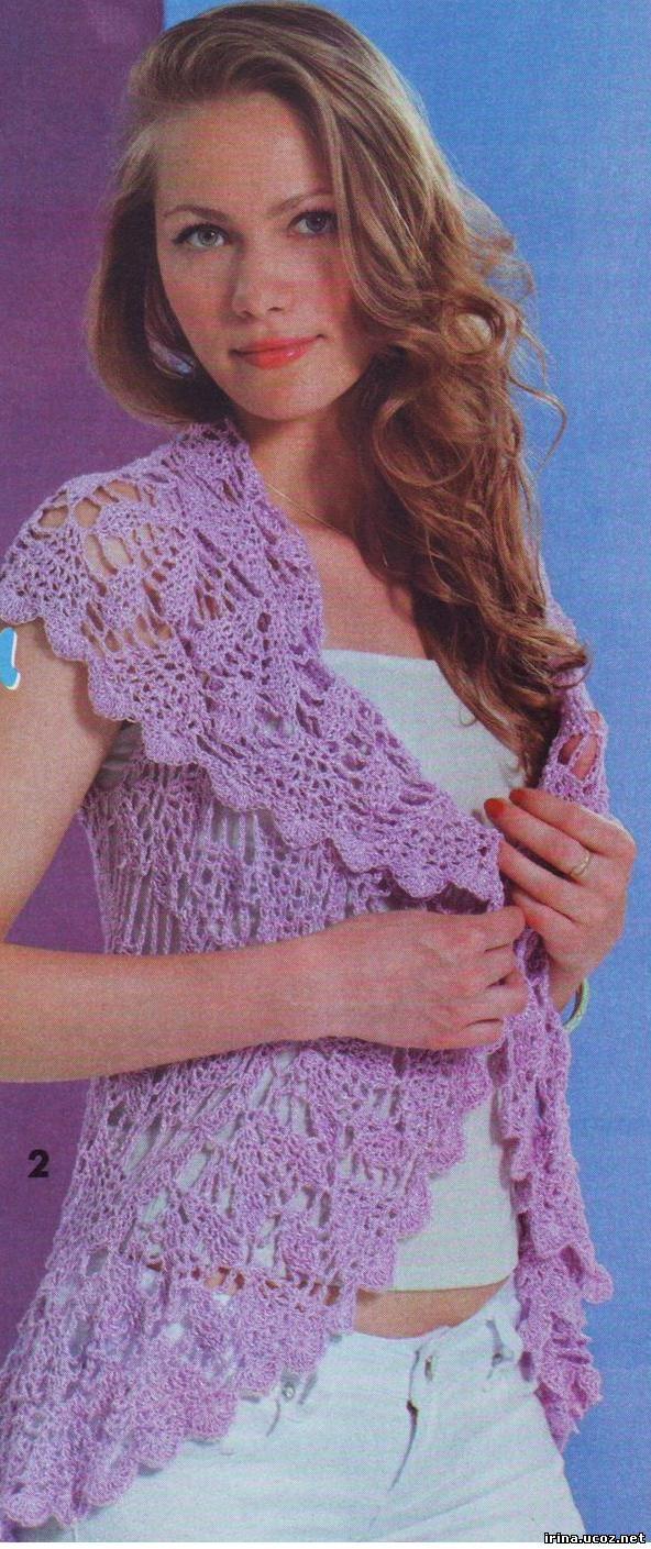 Вязание ажурной накидки - Вязание крючком и спицами - Схемы вязания.
